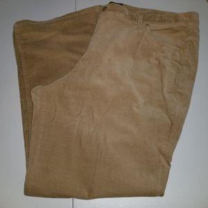 Talbots 22W Tan Corduroy Pants